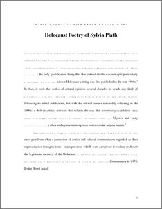 metaphors by sylvia plath analysis essay